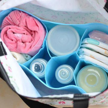 Portable Travel Outdoor Baby Diaper Nappy Organizer Stuffs Insert Mom's Storage Bag Free ShippingST1#