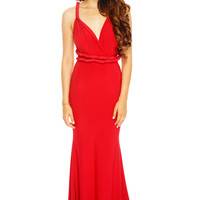 Deirdre Multi-Way Mermaid Dress - Red