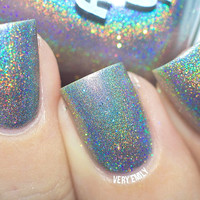 Holographic - Chasing Rainbows:  Custom-Blended Glitter Nail Polish / Indie Lacquer / Polish Me Silly