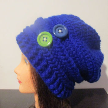Slouchy crochet winter hat, beanie winter hat, dread head hat