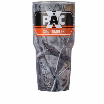 30oz Double Vacuum Wall Tumbler with Lid with JX Camo