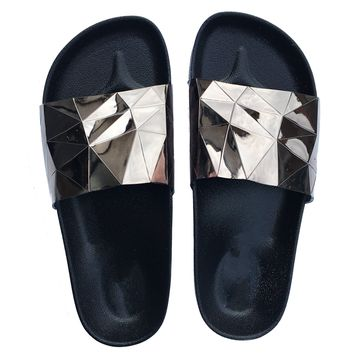 STARGAZER BEACH SLIDES - PEWTER