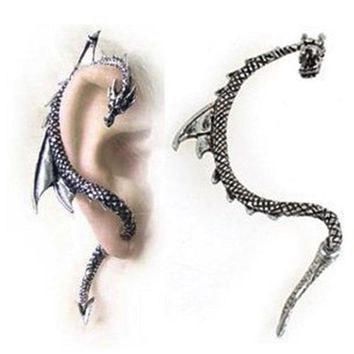 Bling Beauty Fashion Vintage Hot Alchemy Gothic Punk Game Of Thrones Wrap Dragon Ear Cuff Stud Earring For Women Jewelry Accessories Earingsyj2006
