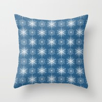 Winter Snow Throw Pillow by Lisa Argyropoulos