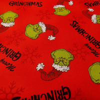 Grinch Fabric How the Grinch Stole Christmas Whoville Fabric Christmas Fabric Holiday Fabric Quilting Fabric Tree Skirt Fabric