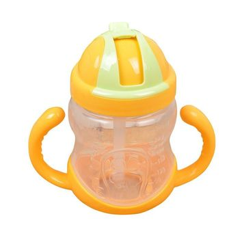 Girl Boy Mini Cup With Handles Baby Straw Learn Feeding Drinking Water Cup Children Drinking Bottle