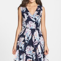 Women's French Connection Print Chiffon Fit & Flare Dress