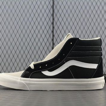 Vans Fog High Tops Fashion Canvas Flats Sneakers Sport Shoes Black