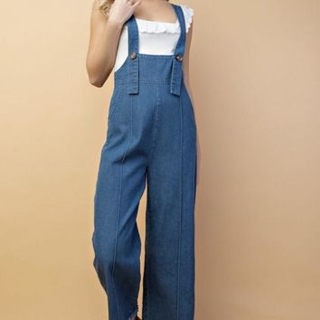 Raw Edge Denim Overall