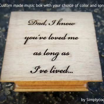 music box, wedding music box, father of bride, personalized gift, simplycoolgifts, gift for dad, father daughter dance, father daughter song