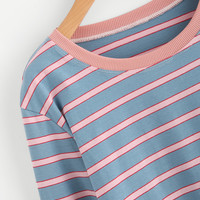 Contrast Striped T-shirt