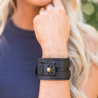 Midnight Magic Leather Cuff