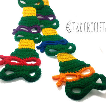 Crochet Turtle Scarf - Children's Turtle Crochet - Kids' Crochet Turtle Scarf