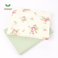 2 pic/lot 40x50cm Cotton Fabric Sewing Quilting Patchwork quilts Tissue baby dress Bedding tecidos DIY Doll cloth fabrics K113