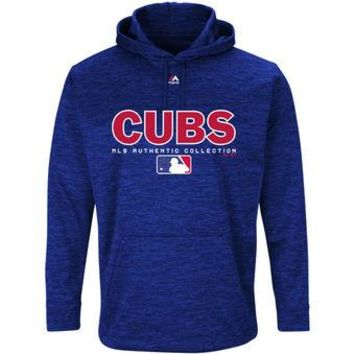 Chicago Cubs Majestic MLB Blue Ultra Streak Pullover Hoodie