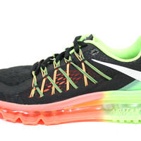 Nike Women's Air Max 2015 Black/Lime/Pink Running Shoes 698903 005