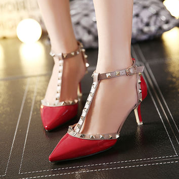 Stylish Pointed Toe With Heel High Heel Shoes [6044928065]