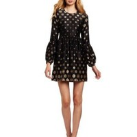 Twelfth Street by Cynthia Vincent Women's Bell Sleeve Baby Doll Mini Dress