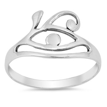 Ladies All Seeing Eye Ring Size 4-10 in .925 Sterling Silver
