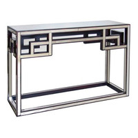 Fretwork Antique Mirror Console Table - Worlds Away
