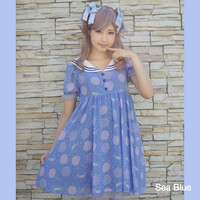 KOKOkim Gloomy Mermaid Sailor Dress