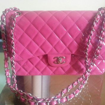 Chanel Timeless Classic Jumbo Patent Bag $5500