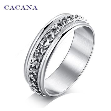 Rotating Key Chain Titanium Stainless Steel Rings For Women