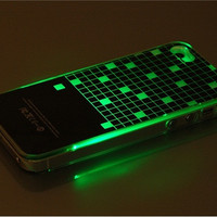 Protector Patterned Protective Case with Flashing Lights for iPhone 5 (Black)