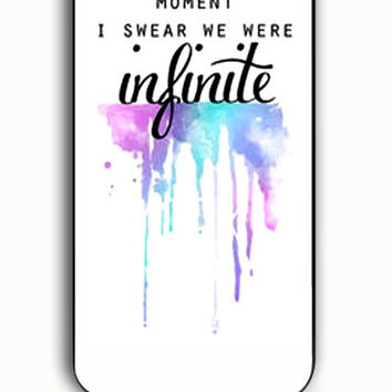 iPhone 5C Case - Hard (PC) Cover with And In That Moment I Swear We Were Infinite The Perks of Being a Wallflower Plastic Case Design