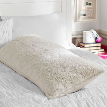 Sherpa Body Pillow Cover.Faux Fur Sherpa Body Pillow Cover From Pbteen