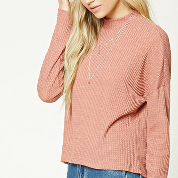 High Neck Popcorn Sweater