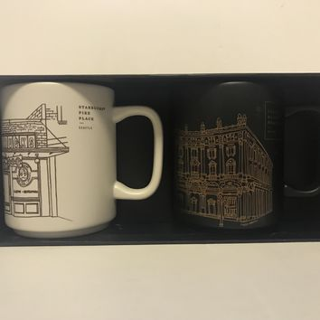 Starbucks Reserve Roastery Seattle Pike & Italy Milano Milan Coffee Mug Set New