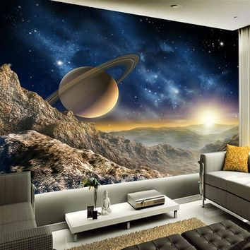 High Quality Custom 3D Photo Wallpaper Space Universe Photography Background Home Decor Wall Painting Living Room TV Mural Paper