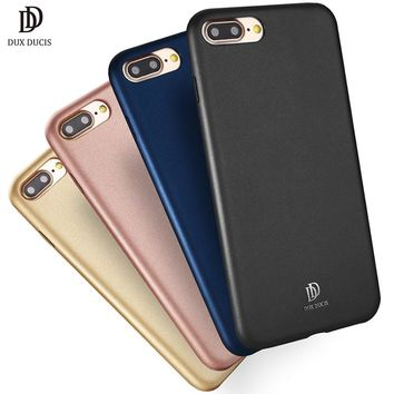 Luxury Ultra Thin PU Leather Case for iPhone 8 Plus Flexible Half Warapped Slim Back Cover for iPhone 8Plus Phone Hoesje Coque