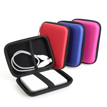 "New Portable 2.5"" External Storage USB Hard Drive Disk HDD Carry Case Cover Multifunction Cable Earphone Pouch Bag for PC Laptop"