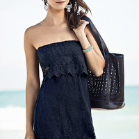 BAROQUE LACE TUBE DRESS - BLACK from EXPRESS