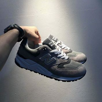 New Balance Fashion Casual All-match N Words Breathable Couple Sneakers Shoes Grey grey N I-A0-HXYDXPF