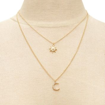 Sun & Moon Layered Necklace
