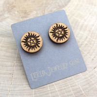 Wooden Supernatural Earrings