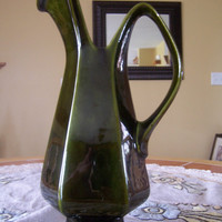 Vintage Lane Ceramics Olive Green Hi Lustre Serving Pitcher - Hard to find