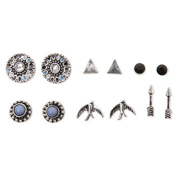 With Love From CA Bird and Stone Multi 6 Earring Set - Womens Jewelry