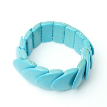 6 Assorted Turquoise Stretch Bracelets (unit Price $ 4.50)