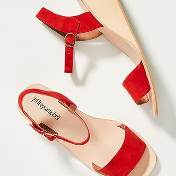 Jeffrey Campbell Brook Wooden Wedge Sandals