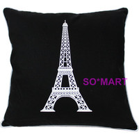 MODERN POP ART PILLOW CASE CUSHION COVER SHAM Printed Effel Tower Decor Picture