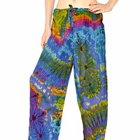 Orient Trail Women's Cold Dyed Tie-Dye Straight Leg Pajama Dance Yoga Pants