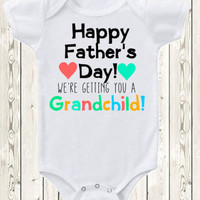 Father's day pregnancy announcement idea for grandpa Onesuit ®brand bodysuit or shirt pregnancy reveal idea for grandpa new baby annoucnement