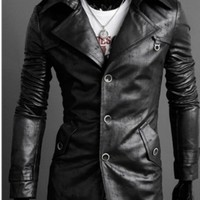 MENS LEATHER JACKET, REAL LEATHER JACKETS MEN