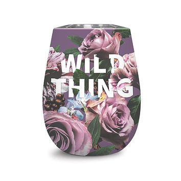Wild Thing Insulated Stemless Stainless Steel Wine Glass