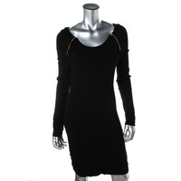 INC Womens Knit Zippers Sweaterdress