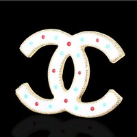Chanel 2018 fashion matching coat accessories with diamond brooch F-QSSP-DP